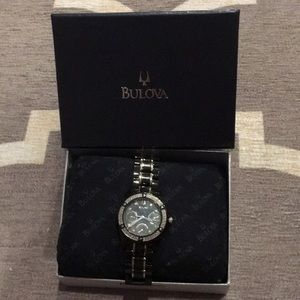 Bulova Ladies Diamond & Black Watch